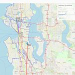 Map of Seattle showing predicted route of a carshare vehicle