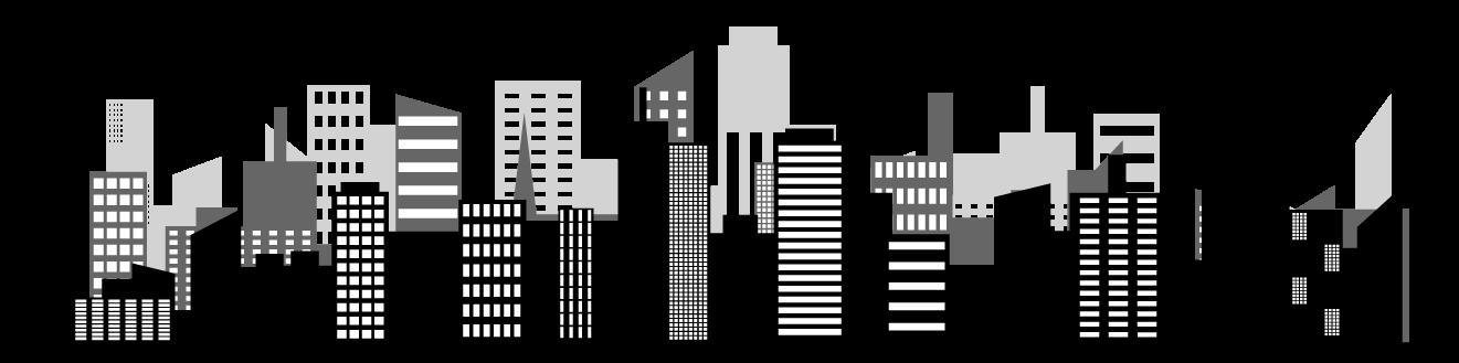 Smart cities skyline banner