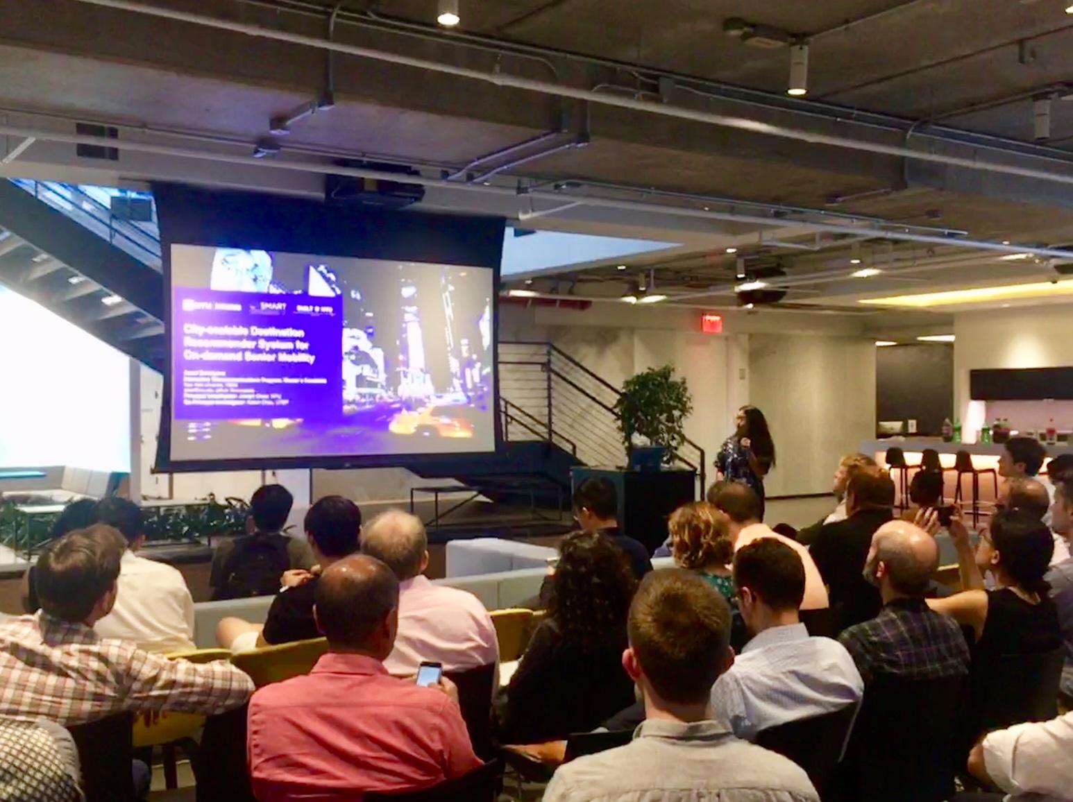 Assel Dmitriyeva presents at Transit Techies NYC Meetup