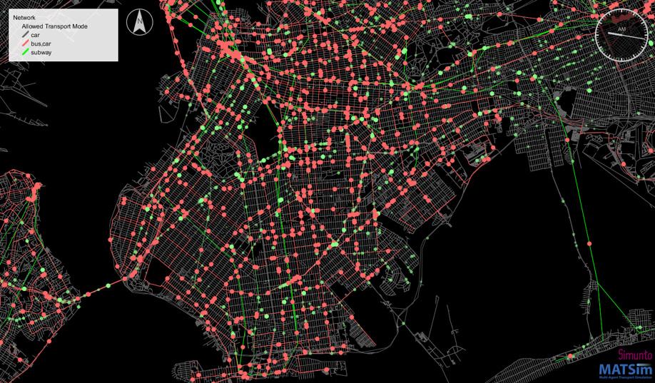 MATSim bus network visualization